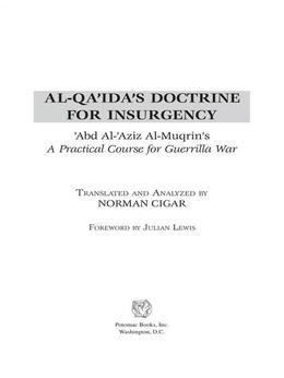 Al-Qa'ida's Doctrine for Insurgency
