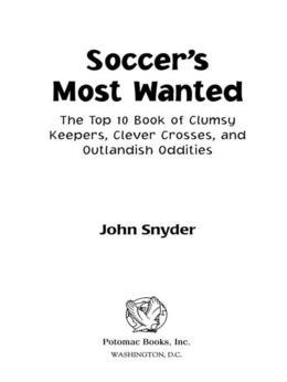 Soccer's Most Wanted™