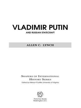 Vladimir Putin and Russian Statecraft