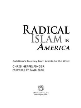Radical Islam in America: Salafism's Journey from Arabia to the West