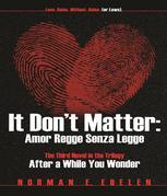 It Don't Matter: Amor Regge Senza Legge (Love Rules Without Rules or Laws): The Third Novel in the Trilogy After a While You Wonder