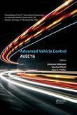 Advanced Vehicle Control: Proceedings of the 13th International Symposium on Advanced Vehicle Control (AVEC'16), September 13-16, 2016, Munich, German