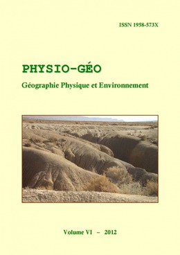 Volume 6 | 2012 - varia - Physio-Géo