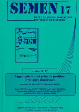 17   2004 - Argumentation et prise de position : pratiques discursives - Semen