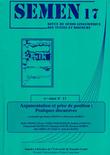 17 | 2004 - Argumentation et prise de position : pratiques discursives - Semen