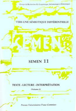 11 | 1999 - Vers une sémiotique différentielle - Semen