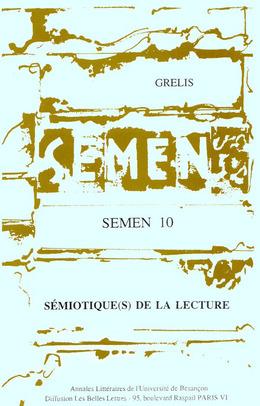 10   1995 - Sémiotique(s) de la lecture - Semen