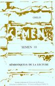 10 | 1995 - Sémiotique(s) de la lecture - Semen