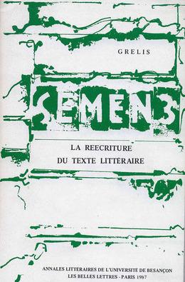 3   1987 - La réécriture du texte littéraire - Semen