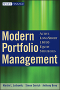 Modern Portfolio Management: Active Long/Short 130/30 Equity Strategies