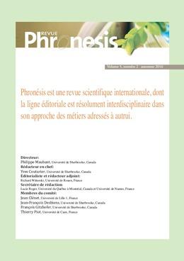 Phronesis. Vol. 5, numéro 2 | 2016