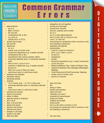Common Grammar Errors (Speedy Study Guides)