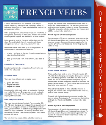 French Verbs (Speedy Language Study Guides)