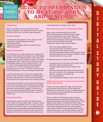 Guide To Preparation to Meat, Poultry And Seafood (Speedy Study Guides)