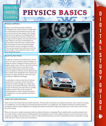 Physics Basics (Speedy Study Guide)