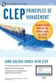 CLEP Principles of Management Book + Online
