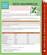 Excel 2013 Formulas: Speedy Study Guides