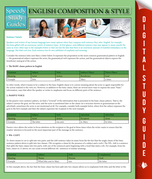 English Composition & Style: Speedy Study Guides