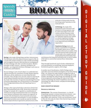 Biology: Speedy Study Guides