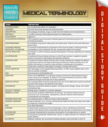 Medical Terminology: Speedy Study Guides