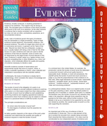 Evidence (Speedy Study Guides)
