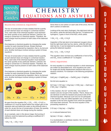 Chemistry Equations And Answers (Speedy Study Guides)