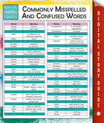 Commonly Misspelled And Confused Words (Speedy Study Guides)