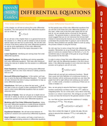 Differential Equations (Speedy Study Guides)