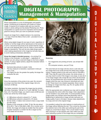 Digital Photography: Management & Manipulation: (Speedy Study Guides)