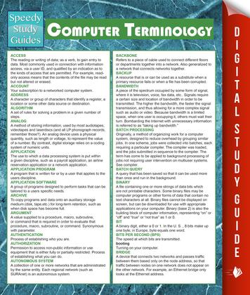 Computer Terminology (Speedy Study Guides)