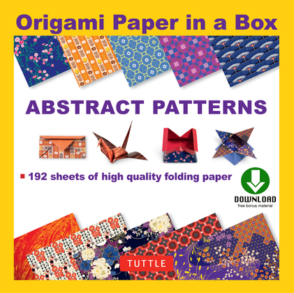 Origami Paper - Abstract Patterns: (Downloadable Material Included)