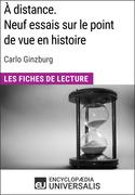 À distance. Neuf essais sur le point de vue en histoire de Carlo Ginzburg