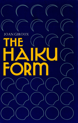 The Haiku Form