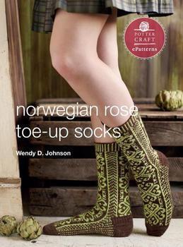 Norwegian Rose Socks: E-Pattern from Toe-Up Socks for Every Body