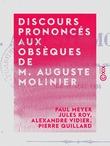Discours prononcés aux obsèques de M. Auguste Molinier