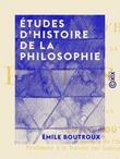 Études d'histoire de la philosophie