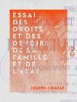 Essai des droits et des devoirs de la famille et de l'État