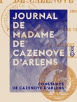 Journal de Madame de Cazenove d'Arlens