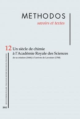 12 | 2012 - Un siècle de chimie à l'Académie royale des sciences - Méthodos