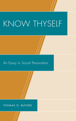 Know Thyself: An Essay on Social Personalism