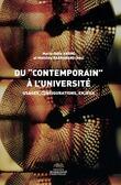 """Du """"contemporain"""" à l'université"""