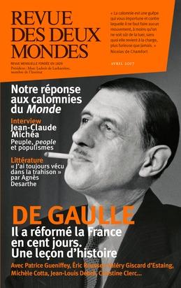Revue des Deux Mondes avril 2017