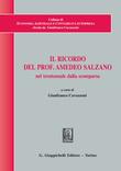 Il ricordo del Prof. Amedeo Salzano nel trentennale dalla scomparsa