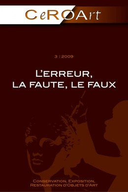 3 | 2009 - L'erreur, la faute, le faux - CeROArt