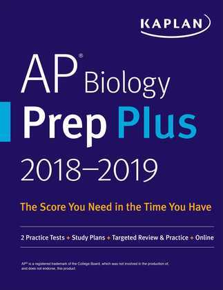 AP Biology Prep Plus 2018-2019: 2 Practice Tests + Study Plans + Targeted Review & Practice + Online