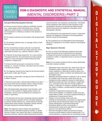 DSM-5 Diagnostic and Statistical Manual (Mental Disorders) Part 2