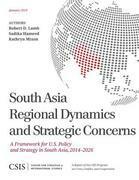 South Asia Regional Dynamics and Strategic Concerns