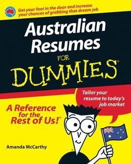 Australian Resumes For Dummies