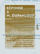 Réponse à M. Dupanloup