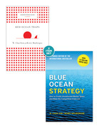 """Blue Ocean Strategy with Harvard Business Review Classic Article """"Red Ocean Traps"""" (2 Books)"""